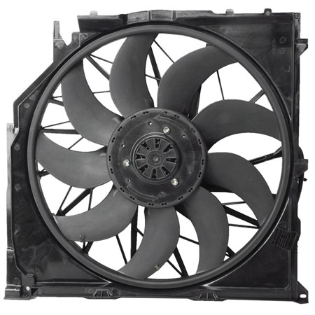 Plastic fan blade 12v 24v 48v CE certificated 350 mm diameter ac exhaust axial fan blades for car cooling fan
